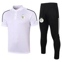 Yetişkin Cezayir Kısa Sporlar Polo Futbol Setleri Eğitim Takım Elbise Gömlek Kol 2021 Survetement Pantolon Eşofman Polos Kitleri Ve Me MFeuw