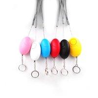 Forma de huevo Alarma Defensa Alarma Chica Mujeres Seguridad Proteger Alerta Seguridad Personal Scream System System 5 colores FHL378-WY1558