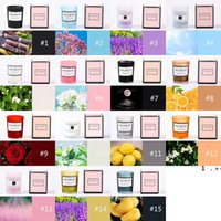 Aromatherapy Candles Glass Holder Romantic Candle Creative Wedding Valentines Day Gifts Soy Wax 15 Style Fragrances FWD6675