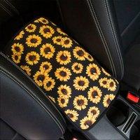 Sunflower Leopard Patroon Neopreen Auto Armsleuning Cover Pad Gunst Universal Fit Soft Comfort Voertuig Center Console Kussen Houder DDA6010