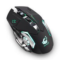 Liberty Wolf X8 Sem fio Gaming Gaming Mouse silencioso luminoso mouse mecânico 6-botão sete-cor luz respiração 2.4g tecnologia sem fio sem atraso