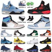 Air Jordan 1 Tênis de basquete masculino feminino University Blue jordans 4s Branco Oreo Preto Cat 13s Red Flint treinador masculino ao ar livre