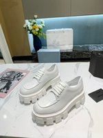 Women's white anti slip ankle boots luxury leather motorcycle autumn winter 2021 w thick soled shoes large size 35-40