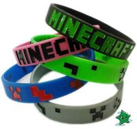 Fashion Minecrafte Creeper Letter Bracelets Party Favor Children Boys Girls Popular Silicone Bracelet Man Lady Match Silica Gel Cartoon