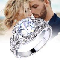 Princesa anel rhinestone jóias árvore árvore engajamento incrustado decoração de dedo para mulheres anéis de casamento lxh