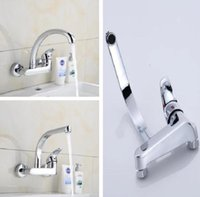 Bathroom Brass Faucet Wall Mounted Kitchen Water Faucet Single Hole Wash Pool water Faucet Wash Table Mixing Valve