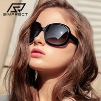 Simprect 2021 편광 선글라스 여성 패션 스퀘어 대형 선글라스 레트로 운전자의 태양 안경 여성을위한 빈티지 그늘