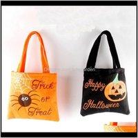 Other Festive Home & Garden Drop Delivery 2021 Non-Woven Handbag Halloween Candy Sack Bags Kid Gift Spider Pumpkin Printed Organizer Bag Part