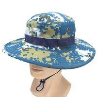 Renkler Ayarlanabilir Askeri Camo Kamuflaj Taktik Boonie Şapka Nefes Unisex Güneş Avcılık Kap Geniş Ağız Şapkalar