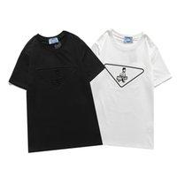 디자이너 Womens T 셔츠 여성 패션 셔츠 편지 기하학적 인쇄 망 티셔츠 여름 통기성 캐주얼 반바지 탑스 여성 의류 2021