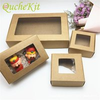 Gift Wrap 50Pc Cardboard Box With Transparent Window Packaging Wedding Candy Favors Arts&Krafts Display Package Party Supply
