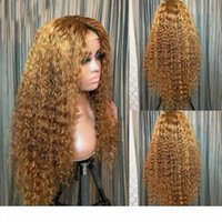 Blonde Full Lace Human Hair Wigs With Baby Hair Brazilian Silk Top Lace Front 150% Remy Curly 360 Frontal Preplucked For Women