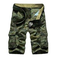 Pantaloncini da uomo Cargo Uomo 2021 Casual Estate Camo maschile Allentato Pantaloni da lavoro Molte tasche Pantaloni corti militari Camouflage
