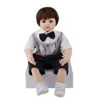 60 cm silicone rinato bambola bambola del corpo corpo reale dall'aspetto neonato bambole realistiche per bambini giocare a casa giocattoli regalo