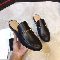 Herren Designerschuhe Pelz Pantoletten Slipper Frauen Loafers Trainer 100% Tiere Echtes Leder Princemetallkette aus Wildleder Pantoffeln mit BOX US 11.5