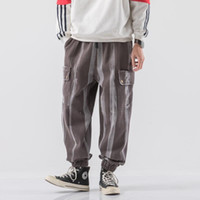 Pantaloni da uomo harem vintage street camouflage sciolto jogging maschio moda caviglia-lunghezza pantaloni casual streetwear 5xl uomini