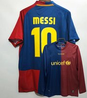 Retro Classic 2008 2009 Henry Soccer Jerseys A.iniesta Aividal Pique Eto'o Maquez Pedro Puyol Xavi Messi Messi Daniel Alves 08 09ホームフットボールシャツ