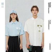 Chemise à manches courtes en couleur Bosie 2021 Couple d'été Couple de mode Couple de mode Couple de la mode Femmes Tops 9002C Casual Shirts