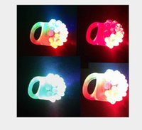 2021 Flashing Bubble Ring Rave Party Blinking Soft Jelly Glow Hot Selling!Cool Led Light Up