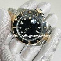 Super Factory V5 Edizione Edizione Orologio 2813 Movimento 40mm Top Quality Sapphire Luminescente orologi 116613 116613Ln Ceramica Two Tone Gold Black Box originale
