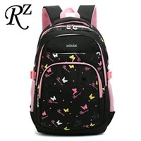 Papillon Impression enfants Sac à dos multicouche Sac à dos enfants Sacs à dos Protection des sacs d'école Spin Sacs confortable