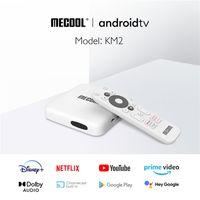 100٪ الأصلي MECOOL KM2 TV Box Set-Top Box 905x2 Android 9.0 Google ATVKM2 Network Player Nai Fei 4K HD التشغيل