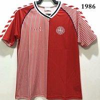 أعلى 1992 الدنيمز الرجعية لكرة القدم الفانيلة مجموعات الكلاسيكية تايلاند جودة المنزل b.Laudrup 11 # heintze 5 # 92 بطل قميص m.laudrup 10 # 1986 قميص كرة القدم حجم S-XXL de futbol