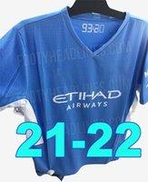2021 2022 رجل Soccer Jersey 21 22 G. Jesus City Sterling Ferran de Bruyne Kun Aguero كرة القدم قمصان موحدة الرجال + أطفال عدة