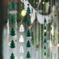 الزخرفية إكليل الزهور الجبر مجسمة مصغرة شجرة عيد الميلاد ورقة سلسلة سحب زهرة شنقا العلم ديكورات حزب ديكور المنزل supp
