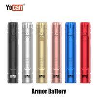 Authentic Yocan Armor Battery 380mAh Slim Preheat VV E Cig 510 Adjustable Voltage Vape Pen With Display Stand 100% Genuine