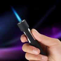 2021 Yeni Jet Torch Çakmak Gaz Çakmak Kalem Taşınabilir Turbo Püskürtme Tabancası Bütan Metal Sigara Puro Çakmak Rüzgar Geçirmez Gadget'lar Erkekler