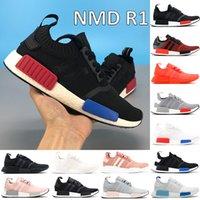 Con scatola NMD R1 scarpe da corsa nucleo nero monocromatico lussureggiante rosso blanch blu triplo bianco moda uomo da donna sneakers US 5-11