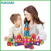 Kacuu 61-135 قطع كبيرة الحجم مصمم كتل المغناطيسي مجموعة بناء مغناطيس لعبة المغناطيسي منشئ كتل لعب للأطفال Q0723