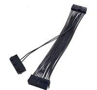 30cm Dual PSU-kabelförlängningsadapter ATX 20 + 4 24pin Strömförsörjning Sync Starter Add2PSU Riser för BTC Bitcoin Miner Mining