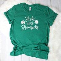 Women's T-Shirt Graphic Tees St Patrick's Day Irish Shirt Lucky Tee Girl Fashion Top Womens Summer Tshirt Vintage Plus Size Clothing