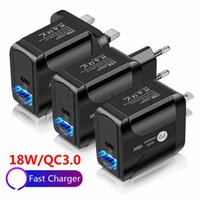 PD Type- C18W QC3. 0 Adaptive Fast Charging Wall Travel Charge...