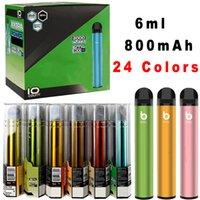 24 컬러 Bang XXL 2000Puffs 일회용 전자 담배 vape 펜 6ml 800mah dsposable 디바이스 포드 미리 채워진 스타터 키트 오일 카트리지 전자 담배