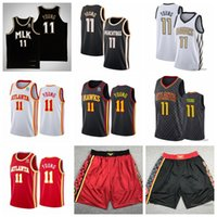 "Basketball-Trikots 11 TRAE ""Young Atlanta"" Hawks ""Jersey 2021 Männer"