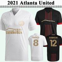 2021 G. Martinez Mens FC Soccer Jerseys Atlanta United Barco Robinson Home Black Away White Football Shirt Uniformes