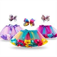 Unicorn Princess Tutu Baby Mädchen Womens Rock Sommer Kleidung Regenbogen Kinder Party für Mädchen Röcke Kinder Bunte Mini Pettiskirt
