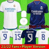 21 22 maillot de football real madrid 2021 2022 maillot de football RMFC real madrid version fans player kits hommes et enfants BENZEMA ALABA DANGER KROOS MODRIC ISCO ASENSIO