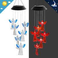 Decorative Objects & Figurines Sunflower Outdoor Solar Wind Chime, Color Changing Mobile Chime   Gard Selling High Quality Convenient And Un