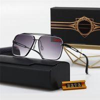 مصمم جودة عالية أعلى النظارات الشمسية النظارات 2273 رجل امرأة عارضة نظارات العلامة التجارية عدسات الشمس شخصية نظارات مع صندوق القضية