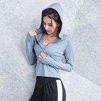 Veste en cours d'exécution Veste Femmes manches longues Hoode Sweat à capuche Yoga vêtements de sport pour vêtements de gymnase Jersey Dry Jersey Fitness Top Femme