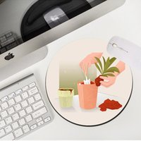 Mouse Pads & Wrist Rests MRGLZY Creative Minimalism 20X20 22X22CM Kawaii Small Pad Carpets PC Gaming Accessories MousePad Rubber Desk Mat