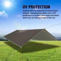 Shade Shelter Lightweight 10x10ft Rip-stop Hammock Canopy Rain Waterproof Tent Tarp Camping Backpacking Sun