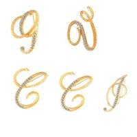 26 letras Letra DIY Broche Mujeres Traje de Rhinestone Sapa Pin Fashion Jewelry Accesorios Para Fiesta De Regalo