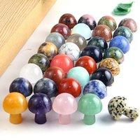 Mostrar Chakra Healing Piedra natural Cristal Champiñones OPAL Rosa Cuarzo Turquesa Energía Equilibrio Equilibrio Yoga Adornos de cuentas 22 * 16mm