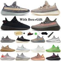 Kanye Bred Ash Mavi Taş Erkek Kadın Koşu Ayakkabıları Dünya Siyah Statik Yansıtıcı Krem Beyaz Ayakkabı Beluga 2.0 Zebra V2 Spor Sneakers