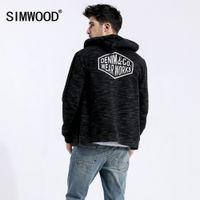 SIMWOOD spring Winter Zip Up Hoodies Men Streetwear Heathered Fashion Letter Hip Hop Sporty Plus Sweatshirts 180436 210506